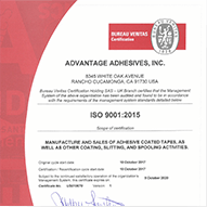 advantage adhesives certificate
